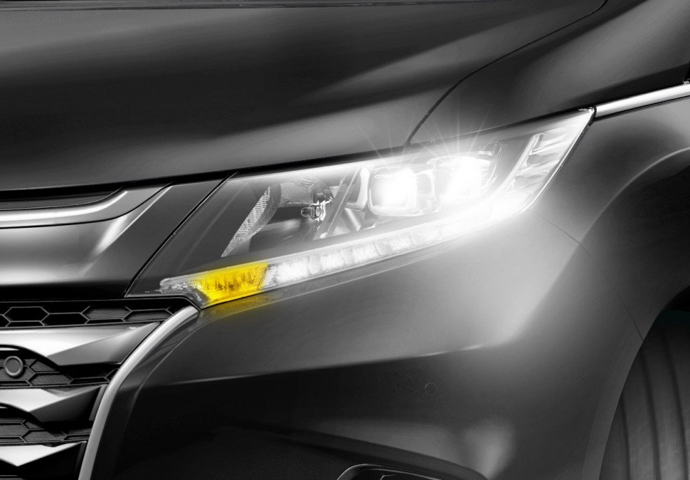 LED Projector Headlight with LED Daytime Running Light